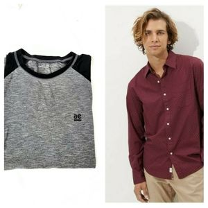 American Eagle T and Button Down Shirt Set